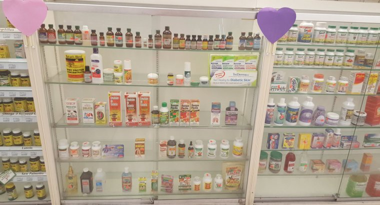 medicines in the pharmacy